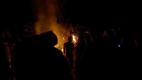 Beltane festival bonfire 02 Stock Video Footage