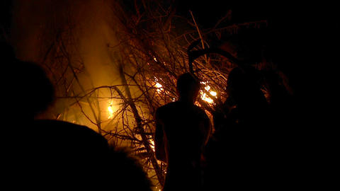 Beltane festival bonfire 02 Footage