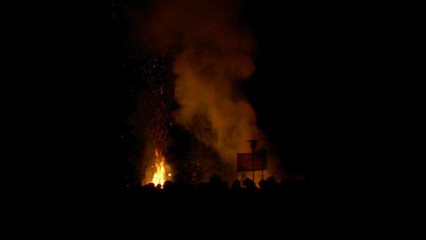 Beltane festival bonfire 04 Stock Video Footage