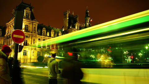 The Hotel De Ville, Or City Hall,Rush Hour,traffic stock footage