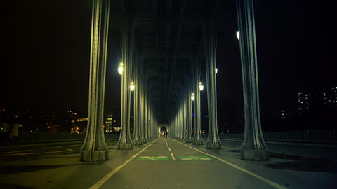The pont de Bir-Hakeim,time lapse night,4k to mult Stock Video Footage