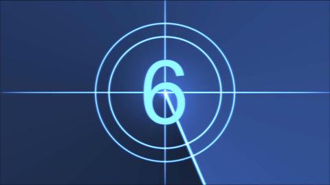 Movie Countdown Animation - Blue Animation