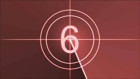 Movie Countdown Animation - Red Animation