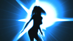 Sexy Dancing Girl (Strobe light effect) Animation
