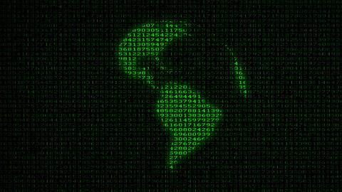 Digital Earth (Loop) Data Code Matrix Stock Video Footage