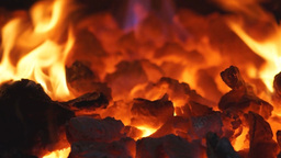 Glowing coals Stock Video Footage