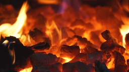 Glowing Coals stock footage