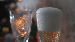 Champagne into wine glasses Stock Video Footage