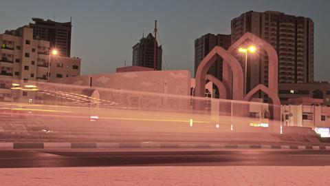 Ajman Museum Rounadbout Time Lapse stock footage