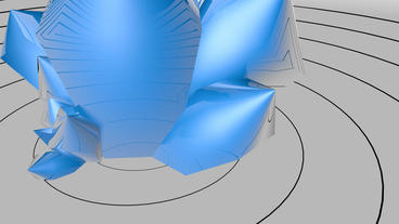 4k huge blue quartz reflect circle pulse curve Stock Video Footage