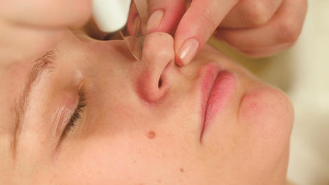 Cleaning nose with ultrasonic technology equipment Footage