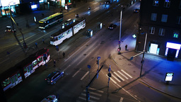 Evening city traffic in Tallin, estonia. Crossroad Footage