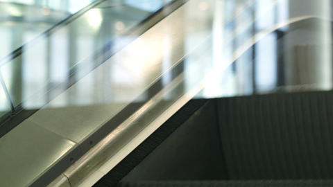 Close-up Shot Of Escalator Going Up stock footage