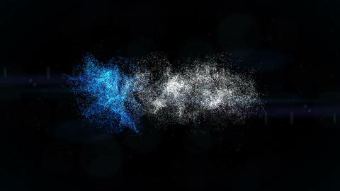 Space Particles Logo Formation After Effects Template