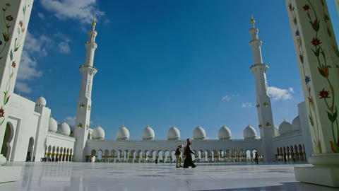 Shiekh Zayed Grand Mosque Footage