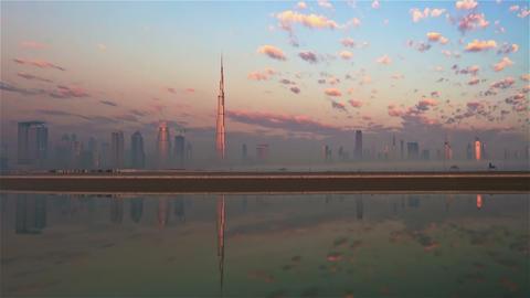 Dubai Skyline Stock Video Footage