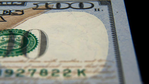 100 American Dollars Stock Video Footage