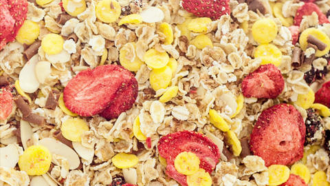 Mixed muesli Stock Video Footage