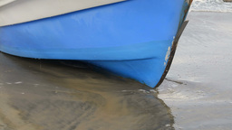 Boat on beach Stock Video Footage