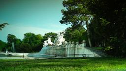 Imperial Gardens at Vienna's Schonbrunn Stock Video Footage