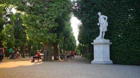 Imperial Gardens at Vienna's Schonbrunn Footage
