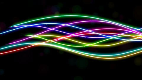 Rainbow Lines Animation stock footage