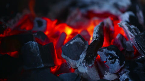 Embers stock footage