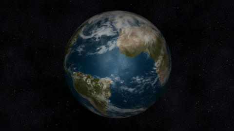 Animation Of The Planet Earth stock footage
