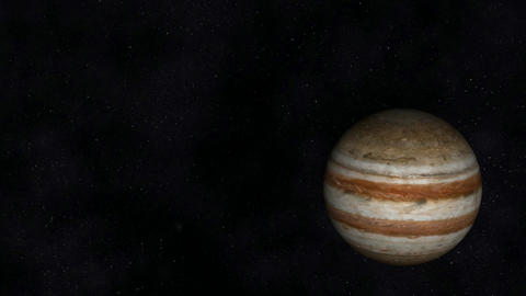 Animation of the Planet Jupiter Stock Video Footage