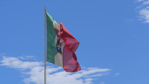 Italy Navy Flag 4k stock footage