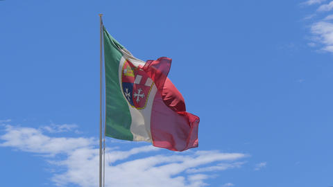 italy navy flag 4k Stock Video Footage