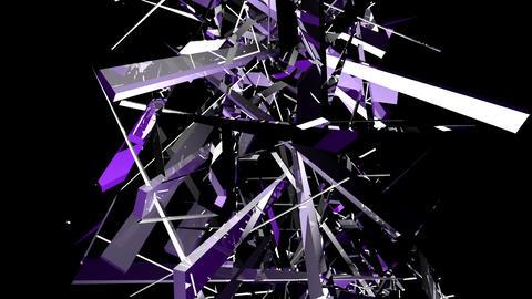 Purple shards tinted intertwine upwards Stock Video Footage