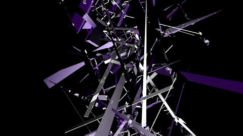 Purple shards tinted intertwine upwards Footage