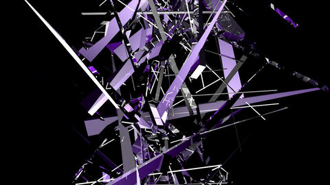 Purple shards tinted intertwine upwards Stock Video Footage
