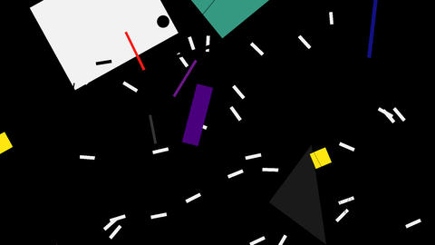 Kandinsky Shapes Animated 02 - Alpha Included Footage