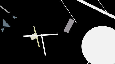 Kandinsky Shapes Animated 04 - Alpha Included Stock Video Footage