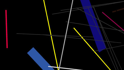 Kandinsky Shapes Animated 08 - Alpha Included Footage
