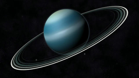 Animation of the Planet Uranus Stock Video Footage