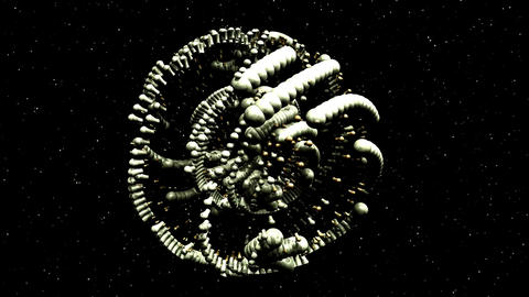 Animation of an Alien Structure Stock Video Footage