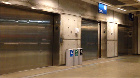 Opening and closing doors in modern elevator Stock Video Footage