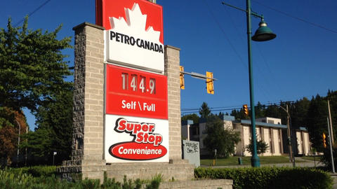 Gas station price sign Footage