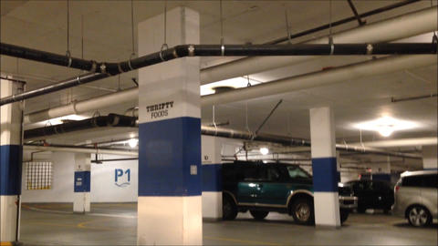 Underground Parking stock footage