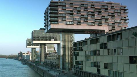 Modern Building In Cologne / Koeln - Skyline stock footage