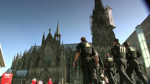 Cologne Cathedral in Cologne, Germany Stock Video Footage