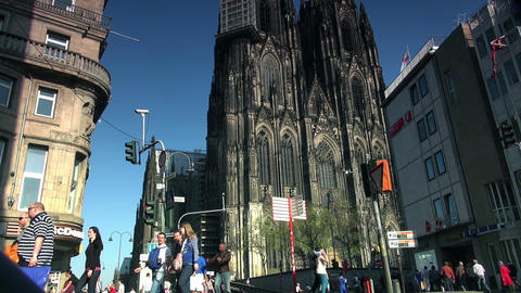 Cologne Cathedral in Cologne, Germany Live Action