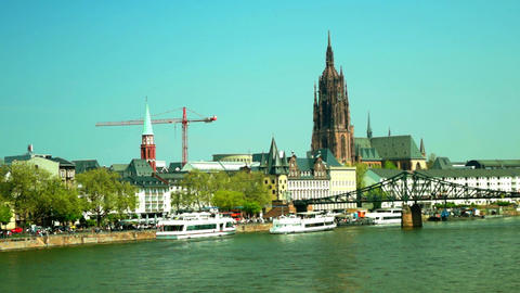 Frankfurt is an important financial center Footage