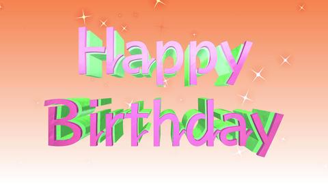 Happy Birthday Movie 動画素材, ムービー映像素材