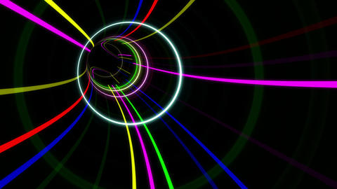 Tunnel Neon Tube AS 2 4k Animation