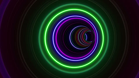 Tunnel Neon Tube BL 1 4k Stock Video Footage