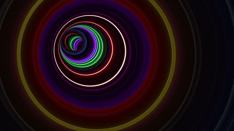 Tunnel Neon Tube BL 1 4k Animation